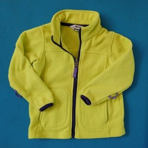 Lands' End yellow toddler fleece jacket. Size 3T